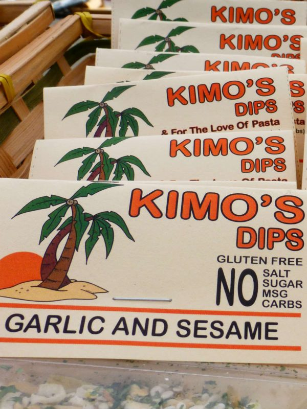 Kimo's Garlic & Sesame Dip Mix Display