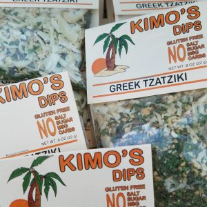 Display of Kimo's Greek Tzatziki Dip Mix