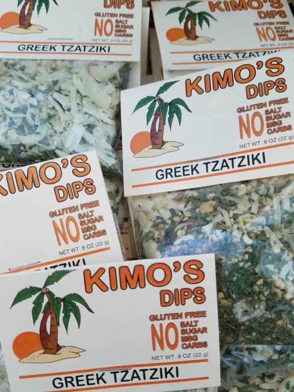 Display of Kimo's Greek Tzatziki Dip Mix