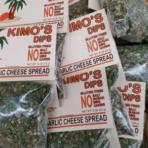 Kimo's Herb Garlic Cheese Spread on Display
