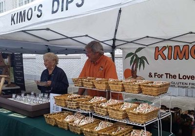 Kimo's Dips booth at the Astoria Sunday Market
